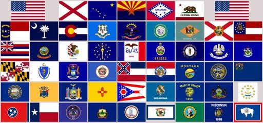 usa drapeaux de l'union flags of the union usa