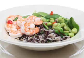 Mixed Bean and Prawn Salad