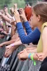 public fan jeunesse artiste star photo musique concert
