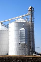 White Grain Bins, Vertical