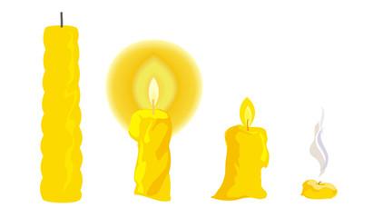 Cartoon-candle