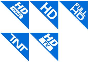 Collection de coin d'écran norme télévision (détouré)