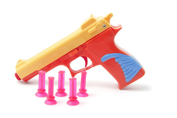 Plastic Toy Gun and Bullets