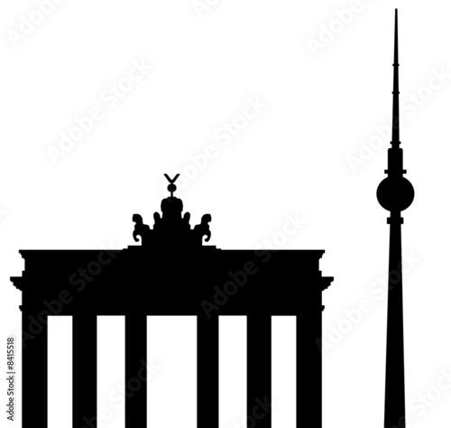 """""""brandenburger tor und fernsehturm berlin"""" stockfotos und"""