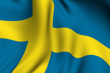 Rendered Swedish Flag