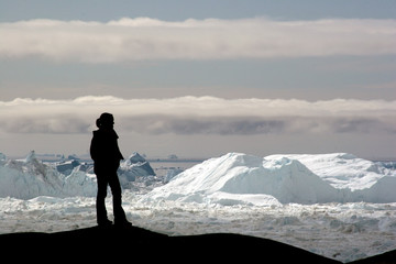 View of the Icefjord near Ilulissat, Greenland