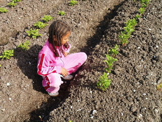 girl in potatoe field