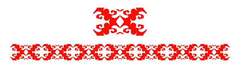 Belt from geometgic pattern