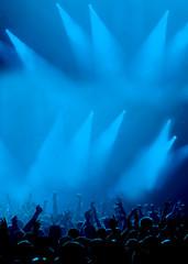 Konzertlicht mit Fans
