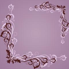 Vintage lilac frame
