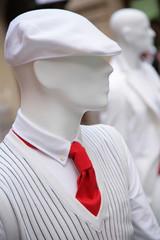 mannequin in white cap