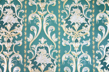 ornament on wallpaper
