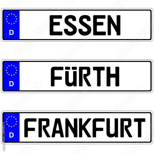 Autokennzeichen Frankfurt