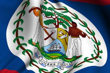 Rendered Belizean Flag