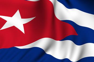 Rendered Cuban Flag