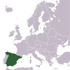 map of europe - spain