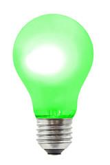 Green lighting lamp