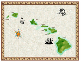 Historical Map of Hawaii