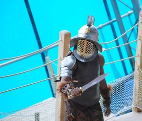 Printed kitchen splashbacks Knights gladiator 2