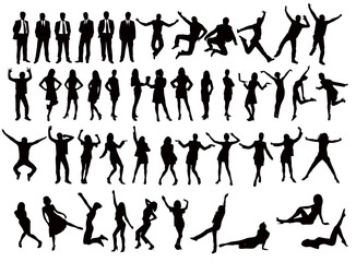 people vector silhouettes