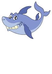 Cute smiling shark vector illustration