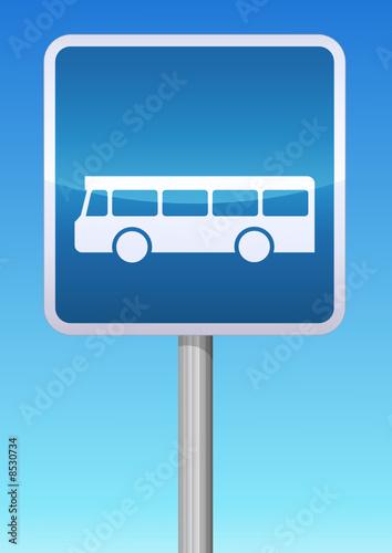 panneau de signalisation arr t d 39 autobus fichier vectoriel libre de droits sur la banque d. Black Bedroom Furniture Sets. Home Design Ideas