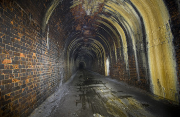 Darkness of a Disused Railway Tunnel