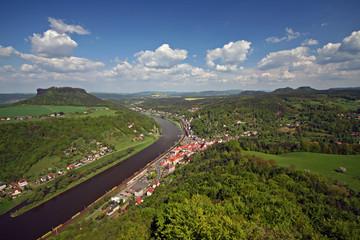 Blick von der Festung Königstein