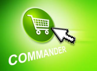 Commande en ligne vert