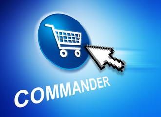 Commander en ligne bleu