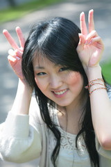 beautiful orient model shows Funny Bunny