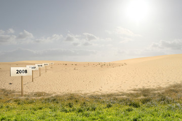 Danger warm - Desertification