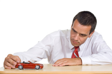 Businessman planning to buy a new car