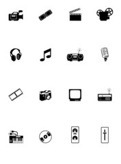 Media Icons (black) with reflection