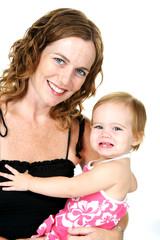 Mother Holding Newborn Child
