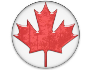 Canada flag gel button