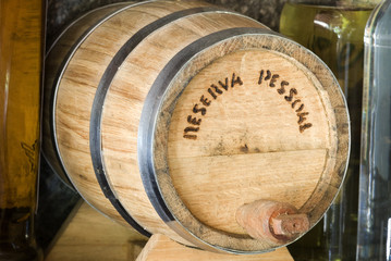 Cachaa barrel