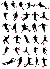 collection of soccer vector