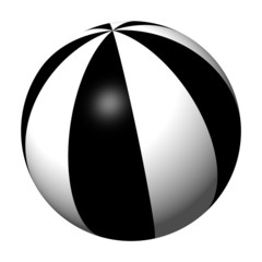 3d black and white ball