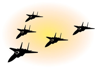 Vector Grafic Military Jets
