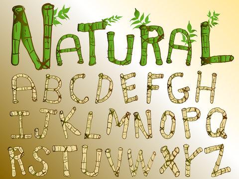 Natural Bamboo Alphabet
