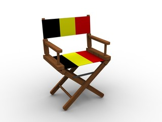 Chair with Flag of Belgium
