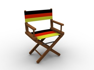 Chair with flag of Germany