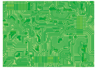 Seamless vector tiling texture of a circuit board.
