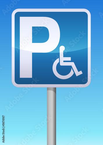 panneau parking handicap fichier vectoriel libre de droits sur la banque d 39 images. Black Bedroom Furniture Sets. Home Design Ideas