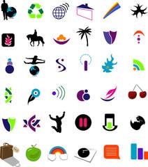 Large Set Of Vector Logos