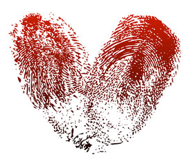 Fingerprints heart
