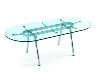 modern dining glass table