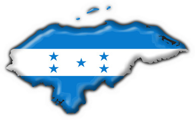 honduras button flag map shape