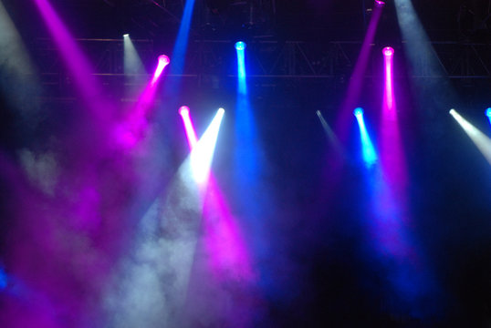 Strobe Lights from a Concert